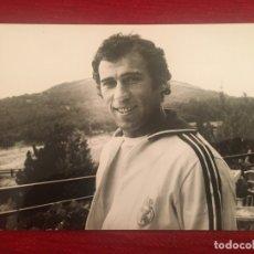 Coleccionismo deportivo: R6706 FOTO FOTOGRAFIA PRENSA FUTBOL JUGADOR AMANCIO REAL MADRID. Lote 175728984