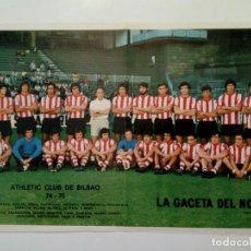 Coleccionismo deportivo: POSTER 42 X 28 CM - ATHLETIC CLUB DE BILBAO (1974-75) - LA GACETA DEL NORTE, BANCO DE VIZCAYA . Lote 176194257