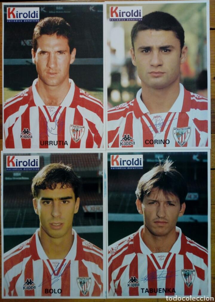 LOTE 4 LÁMINAS - ATHLETIC CLUB 1996-97 - COLECCIONABLE PERIÓDICO DEPORTIVO KIROLDI - BILBAO (Coleccionismo Deportivo - Documentos - Fotografías de Deportes)