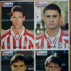 Coleccionismo deportivo: LOTE 4 LÁMINAS - ATHLETIC CLUB 1996-97 - COLECCIONABLE PERIÓDICO DEPORTIVO KIROLDI - BILBAO. Lote 176573905