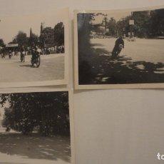 Coleccionismo deportivo: CONJUNTO 3 FOTOGRAFIAS.CARRERA MOTOCICLISMO.SEVILLA AÑOS 50.60. Lote 177023384