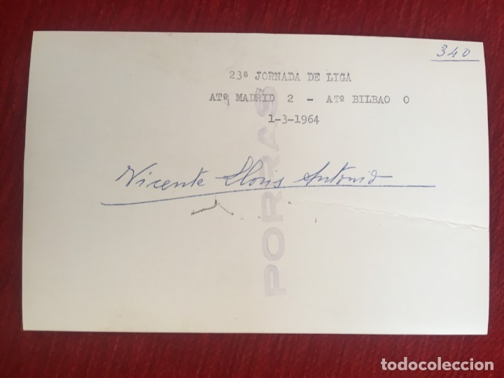 Coleccionismo deportivo: R6810 ORIGINAL FOTO FOTOGRAFIA DE PRENSA ARBITRO FUTBOL VICENTE LLORIS ANTONINO 1964 - Foto 2 - 177211660