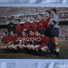 Coleccionismo deportivo: SELECCIÓN ESPAÑOLA DE FÚTBOL. ALINEACIÓN PARTIDO AMISTOSO 1961 EN EL BERNABÉU CONTRA FRANCIA. FOTO. Lote 179086593