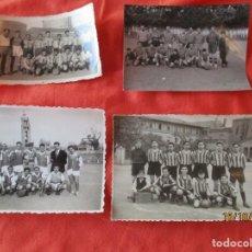 Coleccionismo deportivo: LOTE 4 FOTOGRAFIAS ANTIGUAS DE EQUIPOS DE FUTBOL. (DESCONOZCO EQUIPOS). Lote 179321766