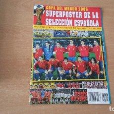 Coleccionismo deportivo: SUPER POSTER SELECCION ESPAÑOLA COPA DEL MUNDO 2006 60 X 85CM. Lote 180166023
