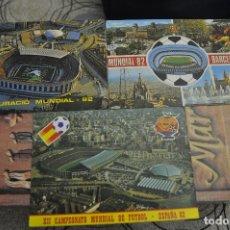Coleccionismo deportivo: POSTAL MUNDIAL 82 ESPAÑA. SEDE BARCELONA NOU CAMP. TRES POSTALES NUEVAS SIN USO.. Lote 180224308