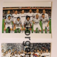 Coleccionismo deportivo: R. MADRID. LOTE 2 FOTOS CAMPEÓN COPA DEL REY 2010-2011 EN MESTALLA CONTRA EL BARCELONA. Lote 181626921