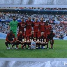 Coleccionismo deportivo: LIVERPOOL F.C. ALINEACIÓN GANADOR CHAMPIONS 2018-2019 EN EL WANDA CONTRA EL TOTTENHAM. FOTO. Lote 182427268