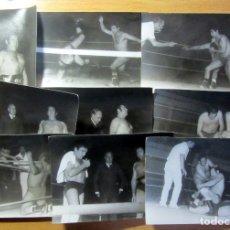 Coleccionismo deportivo: 9 FOTOGRAFIAS ORIGINAL DE EPOCA LUCHA LIBRE ESPAÑA PRESSING CATCH SPAIN. Lote 183357038