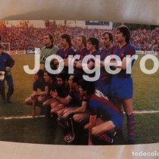 Coleccionismo deportivo: F.C. BARCELONA. ALINEACIÓN CAMPEÓN RECOPA 1978-1979 EN BASILEA CONTRA FORTUNA D. FOTO. Lote 183510858