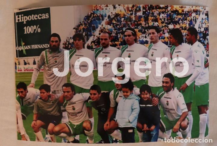 R. SANTANDER. ALINEACIÓN PARTIDO DE LIGA 2005-2006 EN EL CARRANZA CONTRA EL CÁDIZ. FOTO (Coleccionismo Deportivo - Documentos - Fotografías de Deportes)