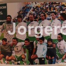 Coleccionismo deportivo: R. SANTANDER. ALINEACIÓN PARTIDO DE LIGA 2005-2006 EN EL CARRANZA CONTRA EL CÁDIZ. FOTO. Lote 183510922