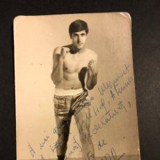 Coleccionismo deportivo: BOXEO.FOTO DE BOXEADOR FLORIDO CON AUTÓGRAFO 1966. Lote 183865062
