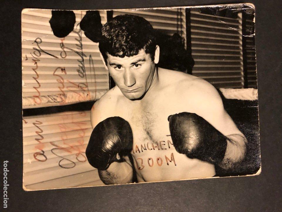 BOXEO.FOTO DE BOXEADOR CON AUTÓGRAFO.FOTO RUBIO MADRID (Coleccionismo Deportivo - Documentos - Fotografías de Deportes)