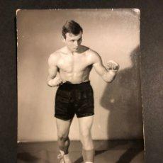 Coleccionismo deportivo: BOXEO.FOTO DE BOXEADOR.ESTUDIO FOTOGRÁFICO PEÑALARA MADRID. Lote 183866402