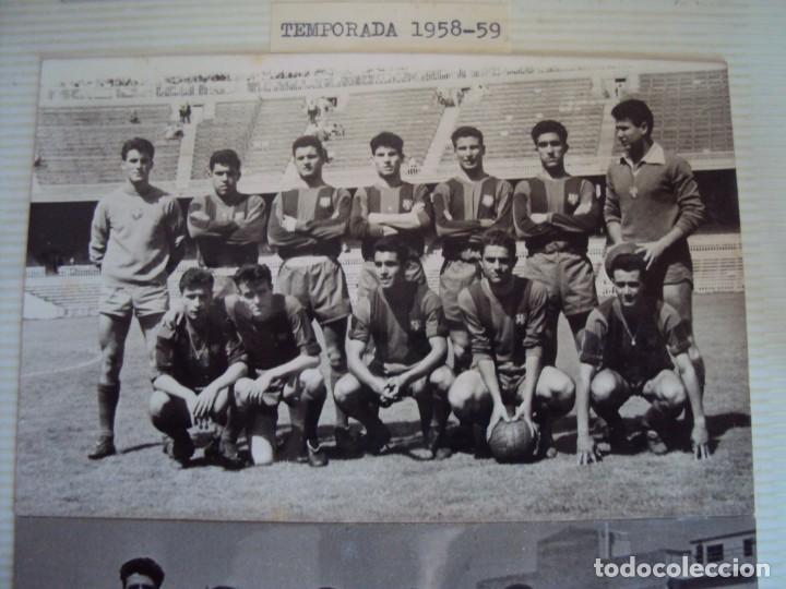 (F-191190)LOTE DE 79 FOTOGRAFIAS CATEGORIAS INFERIORES C.F.BARCELONA - 1956-57 A 1976-77 (Coleccionismo Deportivo - Documentos - Fotografías de Deportes)