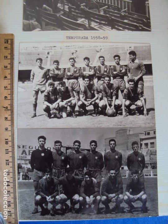 Coleccionismo deportivo: (F-191190)LOTE DE 79 FOTOGRAFIAS CATEGORIAS INFERIORES C.F.BARCELONA - 1956-57 A 1976-77 - Foto 3 - 183922591