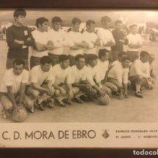 Coleccionismo deportivo: FOTOGRAFIA FUTBOL CLUB DEPORTIVO MORA DE EBRO CAMPEON TEMPORADA 1968 68 ORIGINAL. Lote 184052806
