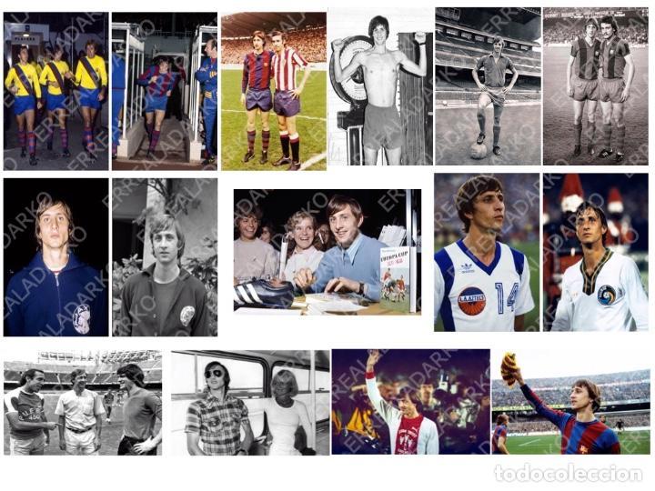 LOTE 15 FOTOS FUTBOL JOHAN CRUYFF F.C.BARCELONA-BARÇA-AJAX AMSTERDAM-COSMOS-L.A.AZTECS (Coleccionismo Deportivo - Documentos - Fotografías de Deportes)