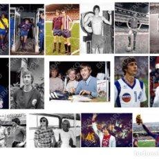 Coleccionismo deportivo: LOTE 15 FOTOS FUTBOL JOHAN CRUYFF F.C.BARCELONA-BARÇA-AJAX AMSTERDAM-COSMOS-L.A.AZTECS. Lote 184387476