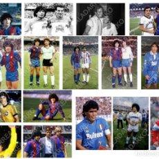 Coleccionismo deportivo: LOTE 16 FOTOS FUTBOL MARADONA F.C.BARCELONA-BARÇA-NAPOLES-NAPOLI-SELECCION ARGENTINA . Lote 184392341