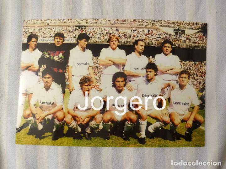 R. MADRID. ALINEACIÓN CAMPEÓN DE LIGA 1988-1989 EN EL BERNABÉU CONTRA EL ESPANYOL. FOTO (Coleccionismo Deportivo - Documentos - Fotografías de Deportes)