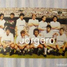 Coleccionismo deportivo: R. MADRID. ALINEACIÓN CAMPEÓN DE LIGA 1988-1989 EN EL BERNABÉU CONTRA EL ESPANYOL. FOTO. Lote 184772525