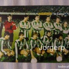 Coleccionismo deportivo: R. SANTANDER. ALINEACIÓN PARTIDO DE LIGA 1982-1983 EN EL CAMP NOU CONTRA EL BARCELONA. FOTO. Lote 184775671