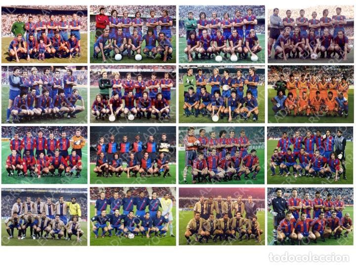 LOTE 16 FOTOS FUTBOL F.C.BARCELONA BARÇA CRUYFF MARADONA SCHUSTER STOICHKOV PUYOL KLUIVERT ETC (Coleccionismo Deportivo - Documentos - Fotografías de Deportes)