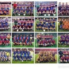 Coleccionismo deportivo: LOTE 16 FOTOS FUTBOL F.C.BARCELONA BARÇA CRUYFF MARADONA SCHUSTER STOICHKOV PUYOL KLUIVERT ETC. Lote 185691163