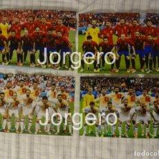 Coleccionismo deportivo: SELECCIÓN ESPAÑOLA DE FÚTBOL. LOTE 4 FOTOS ALINEACIONES EN LA EUROCOPA 2016 DE FRANCIA. Lote 186138415