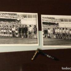Coleccionismo deportivo: ANTIGUAS FOTOGRAFÍAS FÚTBOL MUNDIAL 82 PARTIDO INGLATERRA FRANCIA. Lote 186171726