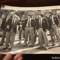 Coleccionismo deportivo: ANTIGUA FOTOGRAFÍA FÚTBOL MUNDIAL 1982 SELECCIÓN ESPAÑOLA. Lote 186172280