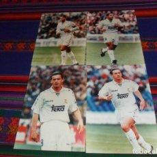 Coleccionismo deportivo: FOTOGRAFÍA ORIGINAL PAPEL KODAK REAL MADRID 1995 MIJATOVIC ROBERTO CARLOS FERNANDO HIERRO. 15X21 CMS. Lote 187799572