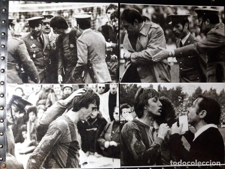 FOTOS DE EXPULSIÓN DE CRUYFF 1975 (Coleccionismo Deportivo - Documentos - Fotografías de Deportes)