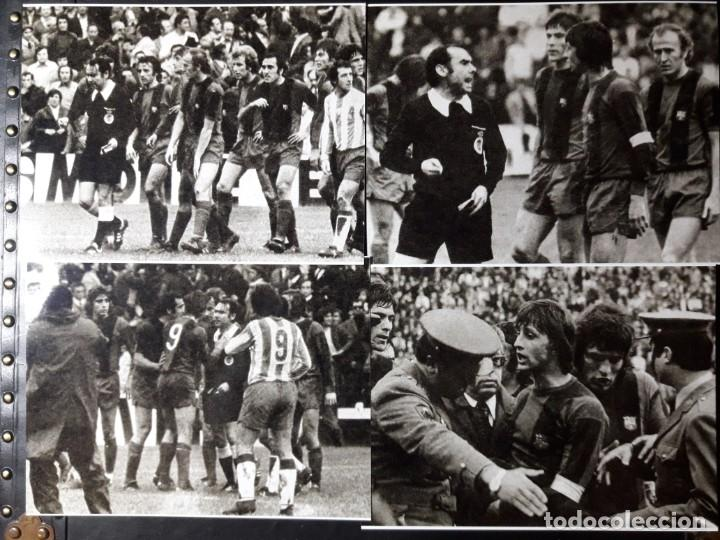 Coleccionismo deportivo: Fotos de expulsión de CRUYFF 1975 - Foto 2 - 188652987