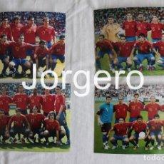 Coleccionismo deportivo: SELECCIÓN ESPAÑOLA DE FÚTBOL. LOTE 4 FOTOS ALINEACIONES EN EL MUNDIAL 2006 DE ALEMANIA. Lote 219504492