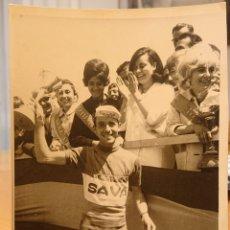 Coleccionismo deportivo: VALLADOLID, CICLISMO, AÑOS 60. EQUIPO SAVA. MUY RARA.. Lote 188835138