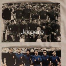 Coleccionismo deportivo: SELECCIÓN ESPAÑOLA DE FÚTBOL. LOTE 2 FOTOS ALINEACIONES EN LA EUROCOPA 1964 DE ESPAÑA. Lote 246082620