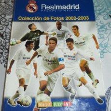 Coleccionismo deportivo: REAL MADRID COLECCIÓN DE FOTOS 2002/2003 ALBUM CON 103 FOTOGRAFÍAS FÚTBOL. Lote 190881122