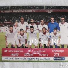 Coleccionismo deportivo: SEVILLA F.C. ALINEACIÓN PARTIDO DE LIGA 2015-2016 EN EL S. PIZJUÁN CONTRA EL BETIS. FOTO. Lote 191103980