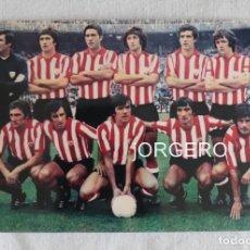 Coleccionismo deportivo: ATH. BILBAO. ALINEACIÓN PARTIDO DE LIGA 1976-1977 EN EL BERNABÉU CONTRA R. MADRID. FOTO. Lote 191211117