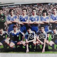 Coleccionismo deportivo: ATH. BILBAO. ALINEACIÓN PARTIDO DE LIGA 1982-1983 EN EL MOLINÓN CONTRA S. GIJÓN. FOTO. Lote 191211480