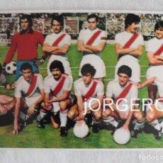 Coleccionismo deportivo: RAYO V. ALINEACIÓN PARTIDO DE LIGA 1977-1978 EN VALLECAS CONTRA R. MADRID. FOTO. Lote 191211652