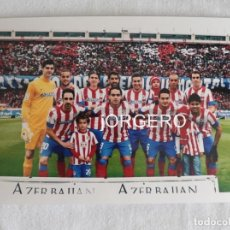 Coleccionismo deportivo: AT. MADRID. ALINEACIÓN PARTIDO DE LIGA 2012-2013 EN EL CALDERÓN CONTRA R. MADRID. FOTO. Lote 191215512
