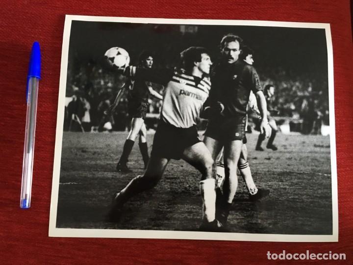 F1835 FOTO FOTOGRAFIA ORIGINAL DE PRENSA REAL MADRID 3-1 BARCELONA (8-3-1986) OCHOTORENA CALDERE (Coleccionismo Deportivo - Documentos - Fotografías de Deportes)