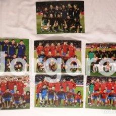 Coleccionismo deportivo: SELECCIÓN ESPAÑOLA DE FUTBOL. LOTE 7 FOTOS ALINEACIONES EN EL MUNDIAL 2010 DE SUDÁFRICA. Lote 209869423