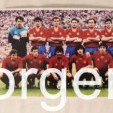 Coleccionismo deportivo: SELECCIÓN ESPAÑOLA DE FUTBOL. LOTE 3 FOTOS ALINEACIONES EN LA EUROCOPA 1988 DE ALEMANIA F.. Lote 192509167