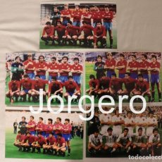 Coleccionismo deportivo: SELECCIÓN ESPAÑOLA DE FUTBOL. LOTE 5 FOTOS ALINEACIONES EN LA EUROCOPA 1984 DE FRANCIA. Lote 217288363