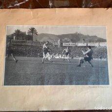 Coleccionismo deportivo: FOTO ORIGINAL ESTADIO DE LA CARRETERA DE SARRIA PUBLICIDAD MARTINI& ROSSI 1948 R.C.D. ESPAÑOL. Lote 193427811